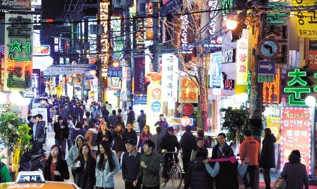 strip Korea clubs town