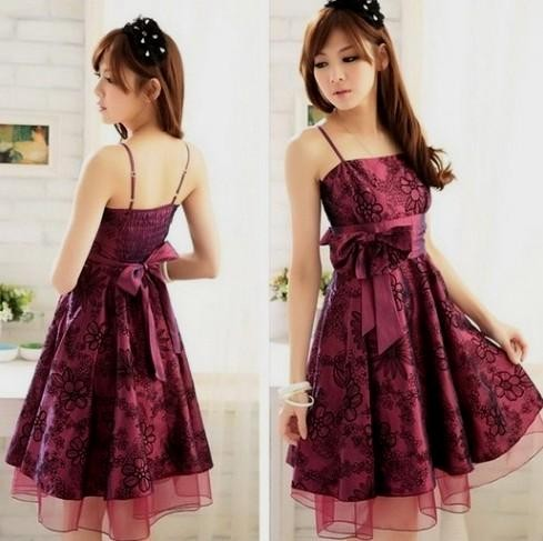 evening korean or japanese Bondage dress