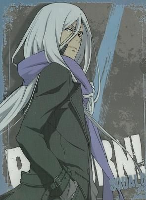 Long white haired anime boy
