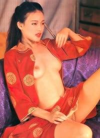 Two asian guys fuck hot girl