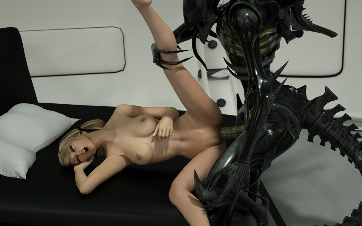nude alien anime 3d