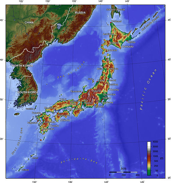 map for japan Weather