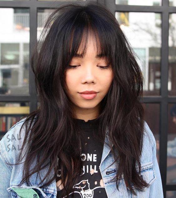 bangs Asian women with