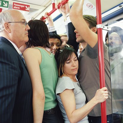 subway Asian groped on
