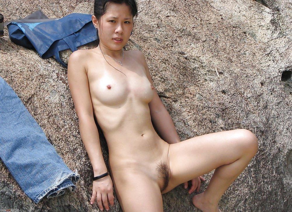 bikini wife Outdoor asian