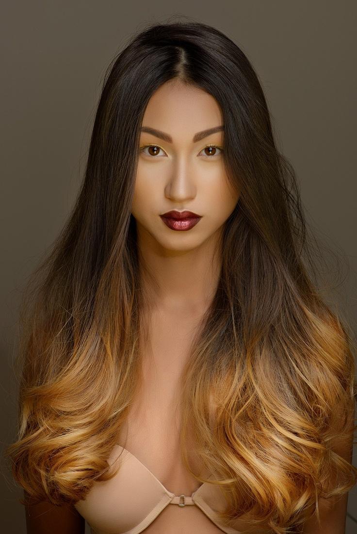hair long Screaming curvy asian