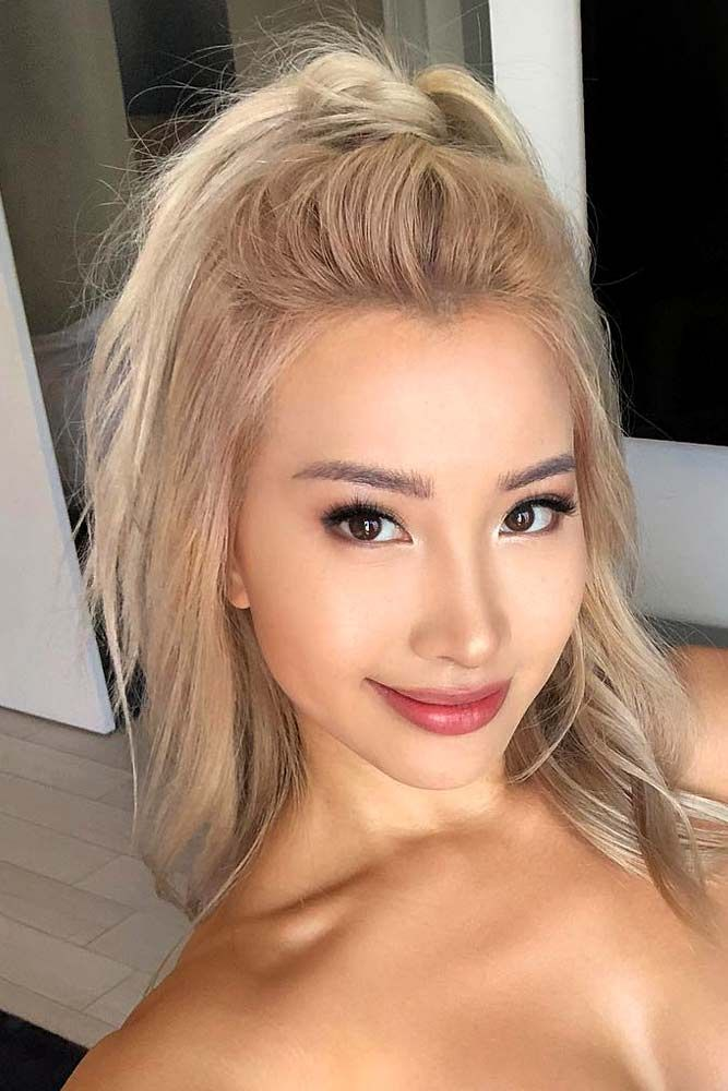 Asian girls with blonde hair gallery