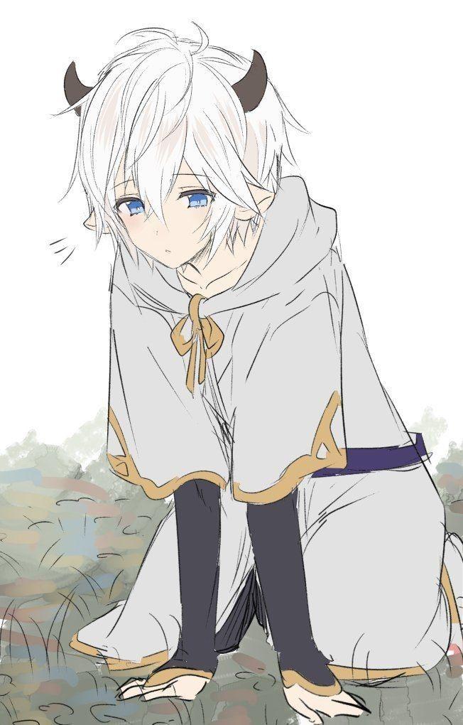 Cute young anime boy