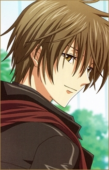 guy hair brown and with brown eyes Anime
