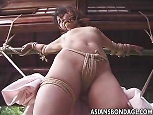 bondage outdoor uncensored Asian