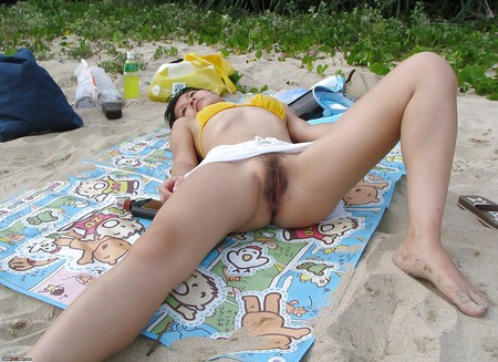 couple outdoor wife Asian