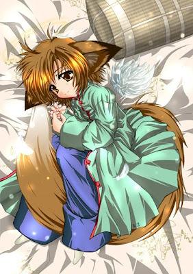 kitsune Cute girl anime