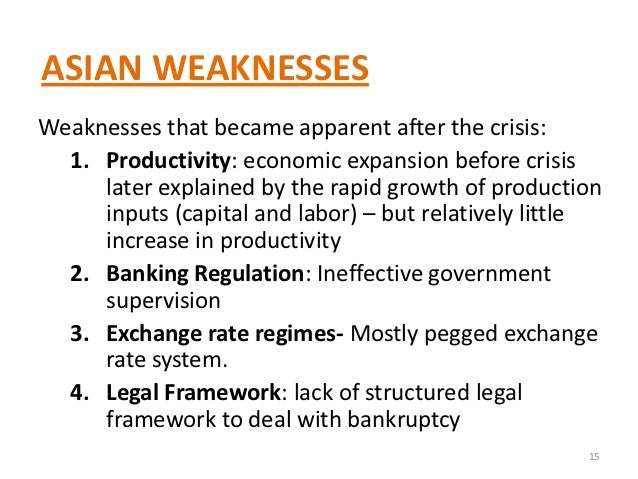 the Afterthoughts asian crisis on
