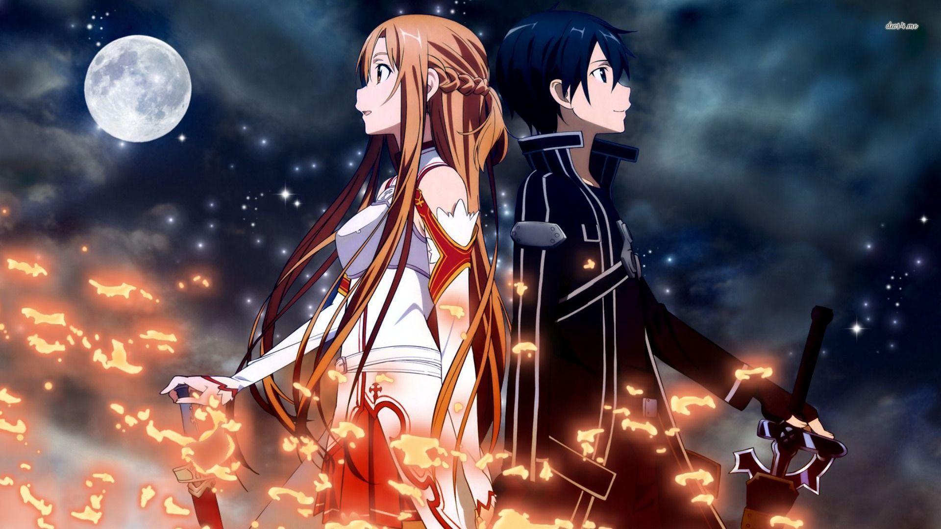kirito and Anime asuna