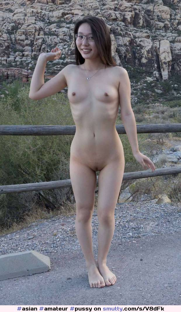 asian Shaved woman outdoor