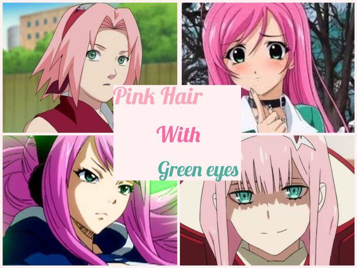 haired anime girls Green