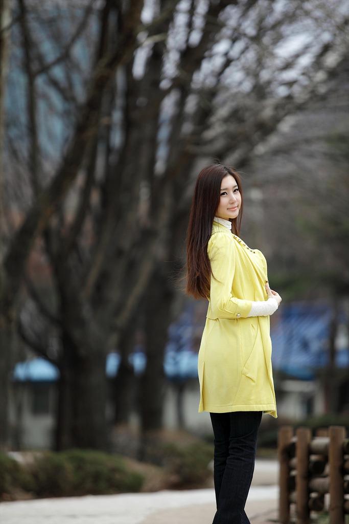 Asian long hair curly secretary
